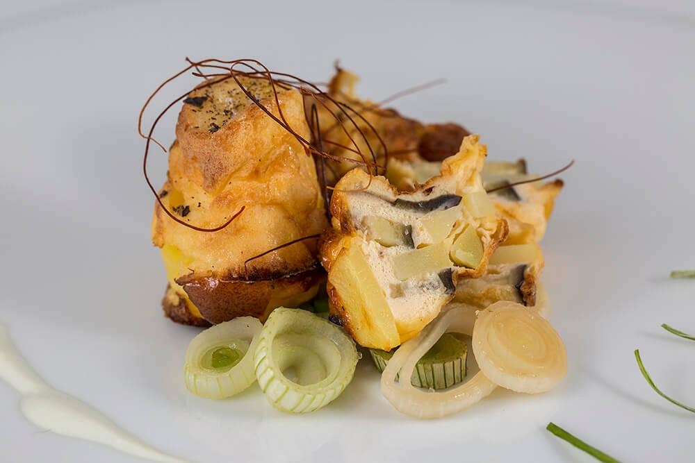 Kartoffel Auberginen Gratin